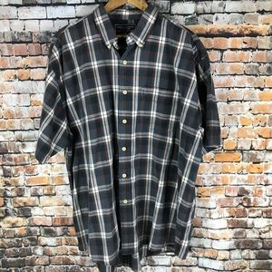 American Eagle Plaid Button Down Short Sleeve Men